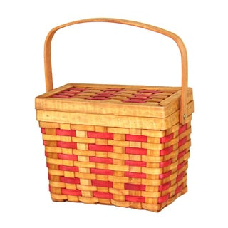 Quickway Burgundy Stripe Chipwood Basket