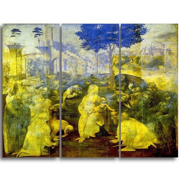 Design Art 'Leonardo da Vinci - The Adoration of the Magi' Religious Canvas Art Prints
