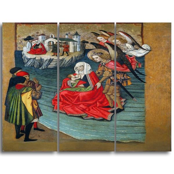 Design Art 'Jaume Huguet - Miracle of Mont Saint-Michel' Religious Canvas Art Prints