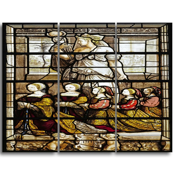 Design Art 'Ecole Francaise - Daughters of the Constable Anne de Montmorency' Religious Canvas Art Prints