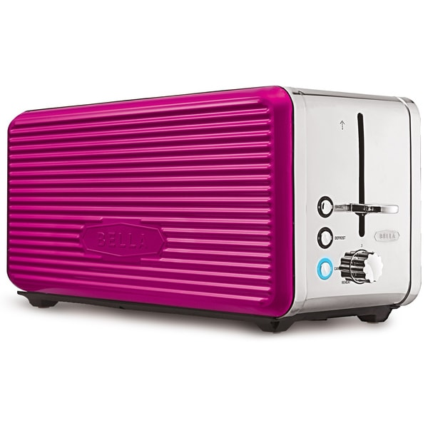 Bella Linea Pink 4-Slice Toaster