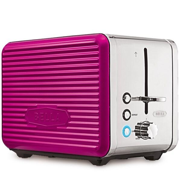 Bella Linea Pink 2-Slice Toaster