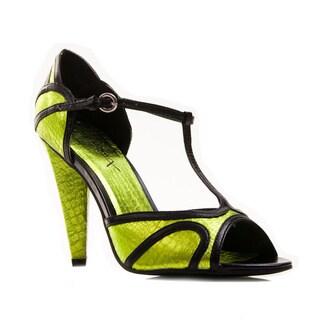 Gomax Women's Luna-10 T-Strap Peep Toe Heels