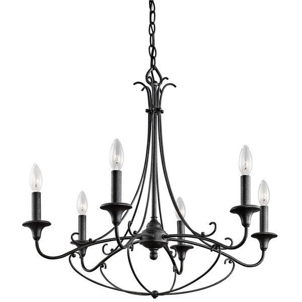 Kichler Lighting Basel Collection 6-light Distressed Black Chandelier
