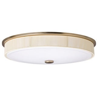 Transitional 3-light Painted Champagne Flush Mount Light