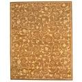 Herat Oriental Indo Hand-tufted Tibetan Light Brown/ Beige Wool Area Rug (8' x 10')