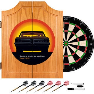 Pontiac GTO - Time & Distance - Wood Dart Cabinet Set