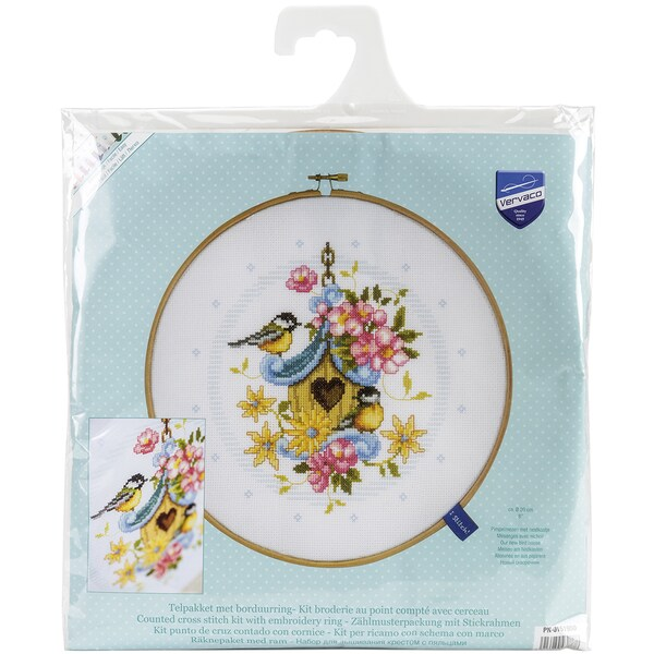 Our Bird House On Aida Counted Cross Stitch Kit