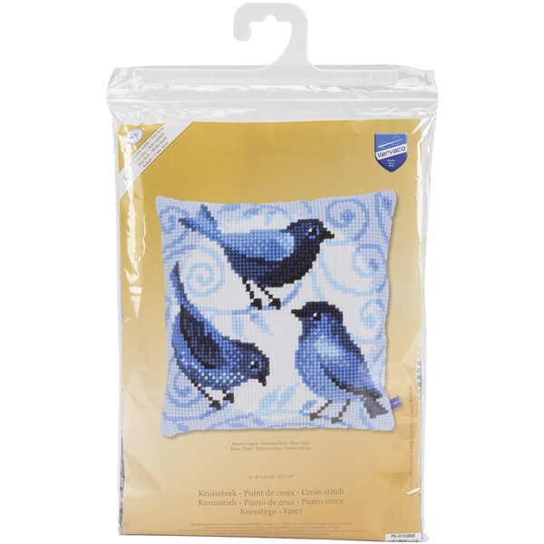 Blue Birds Cushion Cross Stitch Kit