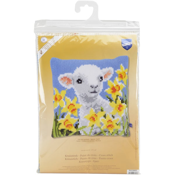 Lamb Cushion Cross Stitch Kit