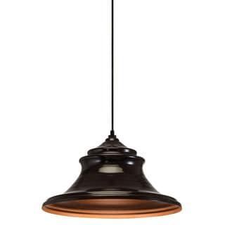 Transitional 1-light Bronze Mini Pendant