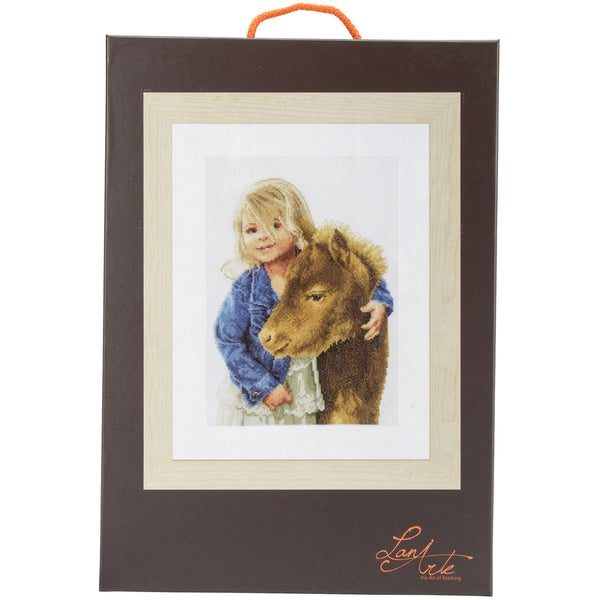 LanArte My Best Friend On Cotton Counted Cross Stitch Kit