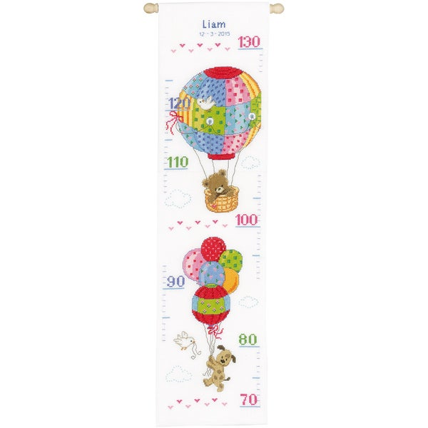 Travelling Height Chart On Aida Counted Cross Stitch Kit