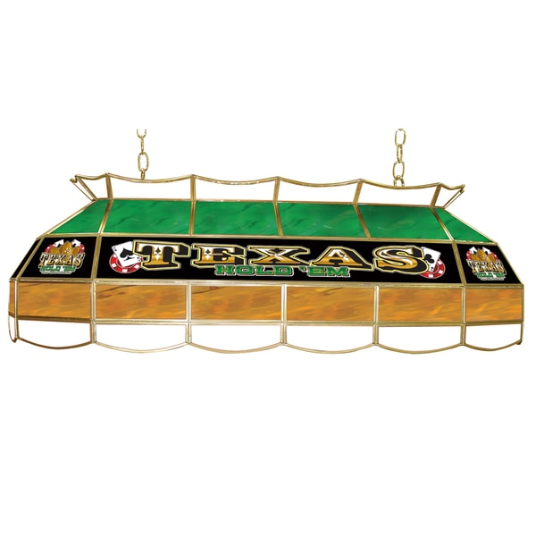 Texas Hold 'em Stained Glass 40 inch Lighting Fixture
