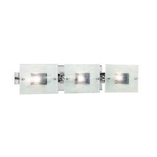 Contemporary 3-light Chrome Bath/ Vanity Light - Silver