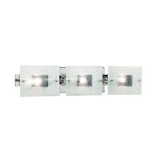 Contemporary 3-light Brushed Nickel Bath/Vanity Light