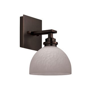 Transitional 1-light Oil Rubbed Bronze Wall Sconce