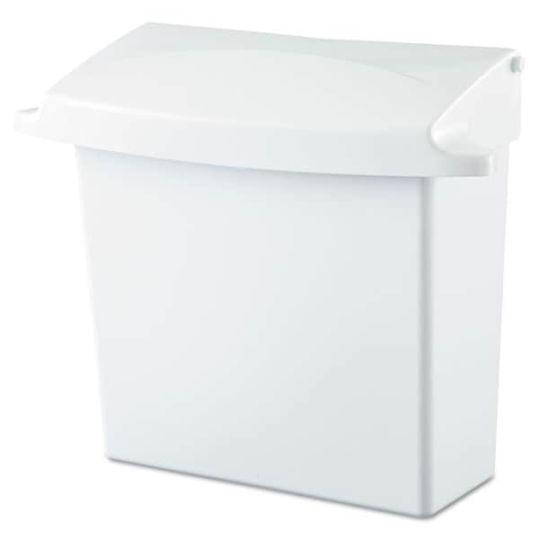 Rubbermaid Commercial White Sanitary Napkin Receptacle with Rigid Liner