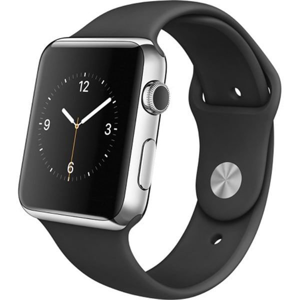 Apple Watch 38MM Stainless Steal Case Black Sports