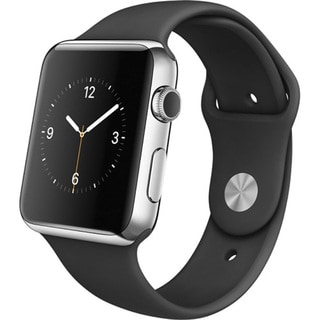 Apple Watch with 42mm Stainless Steel Case and Black Sports Band