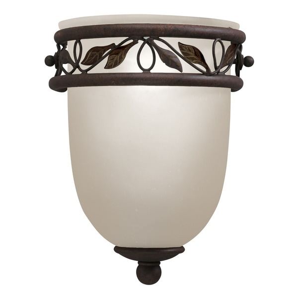Traditional 1-light Tannery Bronze w/Gold Wall Sconce