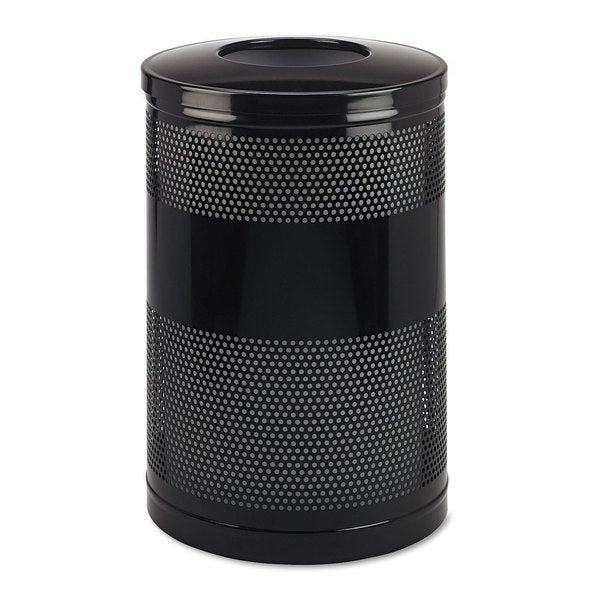 Rubbermaid Commercial Black 51 gal Classics Perforated Open Top Receptacle