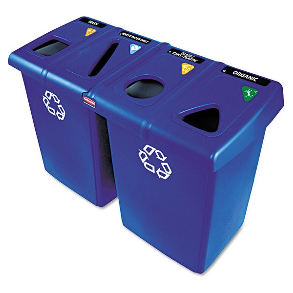 Rubbermaid Commercial Blue 92 gal Glutton Recycling Station
