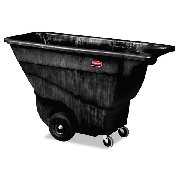 Rubbermaid Commercial Black 850 lb. Cap. Structural Foam Tilt Truck