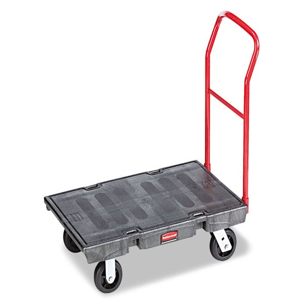 Rubbermaid Commercial Black 1000lb Capacity Heavy-Duty Platform Truck Cart