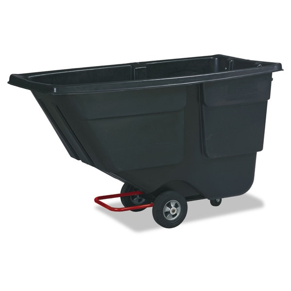 Rubbermaid Commercial Black 600lb Cap Rotomolded Tilt Truck