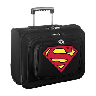 Denco Sports Legacy DC Superman Carry On 14-inch Laptop Rolling Overnight Tote
