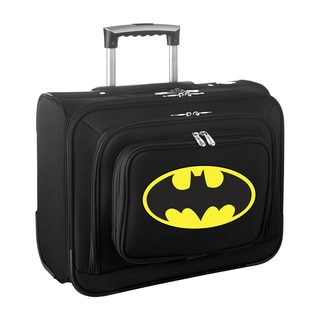 Denco Sports Legacy DC Batman Carry On 14-inch Laptop Rolling Overnight Tote