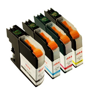 Sophia Global Compatible Ink Cartridge Replacement for LC203XL (1 Black, 1 Cyan, 1 Magenta, 1 Yellow)