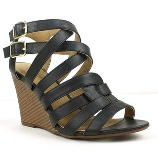 Mark and Maddux Elisha-07 Casual Strappy Wedge Sandals