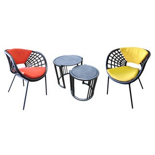 D-Art Webster Rattan Curve 3-piece Chair Set (Indonesia)