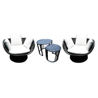 D-Art Swiss Rattan 3-piece Chair and Table Set (Indonesia)
