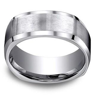 Titanium Men's 9mm Comfort Fit 4-sided Ring