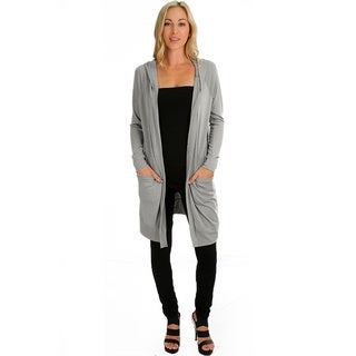 Women's Long-Line Hooded Cardigans