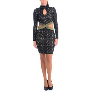 Sentimental NY Women's Keyhole Stretch Lace Dress