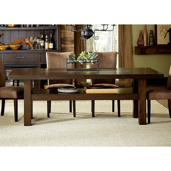 Moreno Cobble Brown Trestle Table