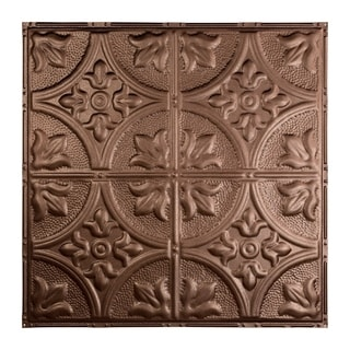 Great Lakes Tin Jamestown Penny Vein 2-foot x 2-foot Nail-up Ceiling Tile (Carton of 5)