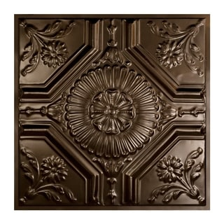Great Lakes Tin Rochester Bronze Burst 2-foot x 2-foot Lay-in Ceiling Tile (Carton of 5)