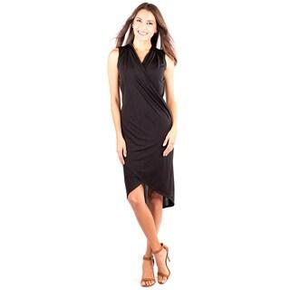 Women's Sleek Little Black V-Neck Dress