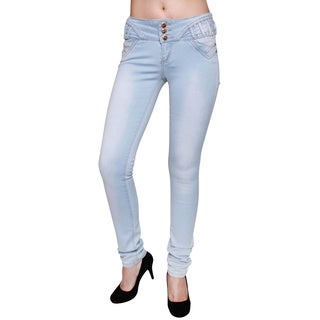 Sexy Couture Women's S113-ps Mid-rise Skinny Jeans
