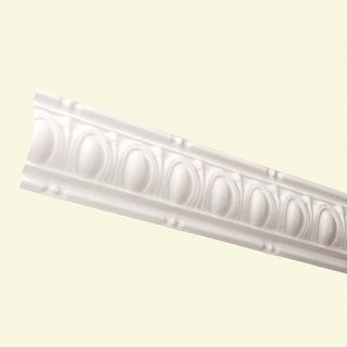 Great Lakes Tin Huron Antique White 48-inch Crown Molding (Carton of 5)