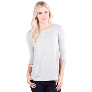 Downeast Outfitters Women's Heathered Sheer 3/4-Length Sleeve Top