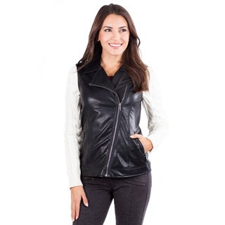 Women's Mulholland Faux Leather and Knit Jacket