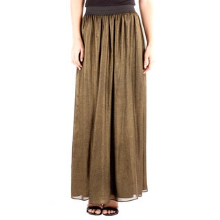 Downeast Outfitters Women's Gold Full-Length Skirt