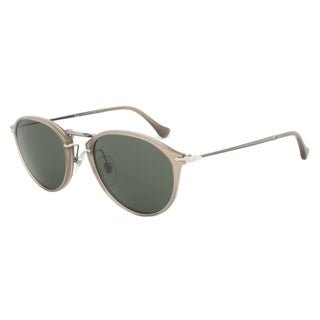 Persol PO3046S 952/31 Sunglasses Reflex Edition in Ivory Frame and Green Grey Lenses