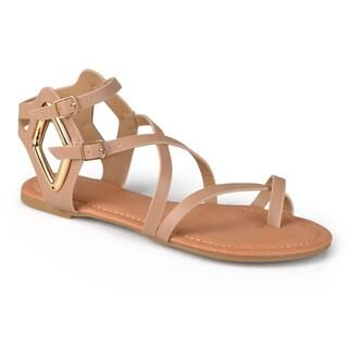 Journee Collection Women's 'Dulcie' Strappy Cutout Gladiator Sandals